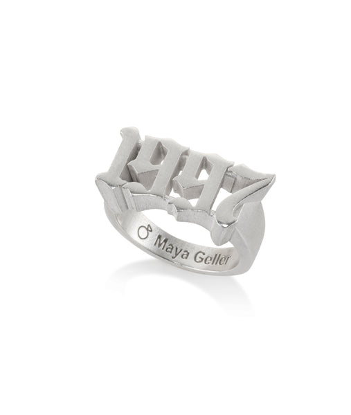 Silver Years ring - choose any year you want