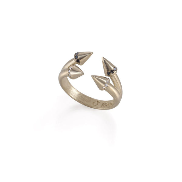 14k gold arrows combo ring