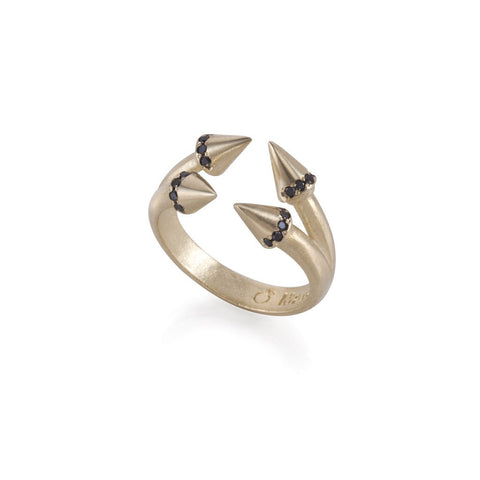 14k double arrows ring