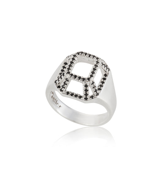 Silver small highlights TOY ring