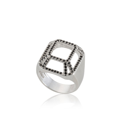 Silver big highlights TOY ring