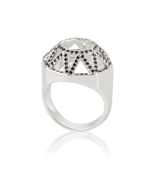 Silver round highlights Toy Ring