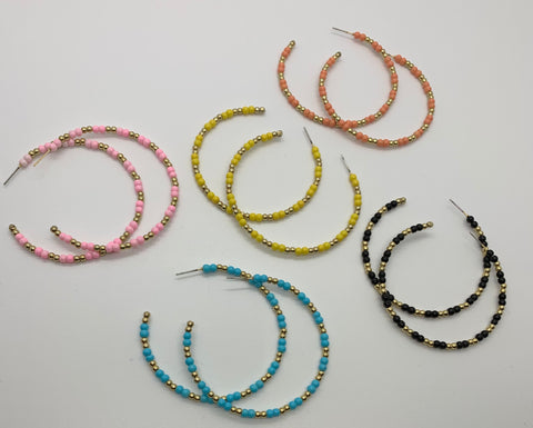 Beaded Babe Hoop Earrings