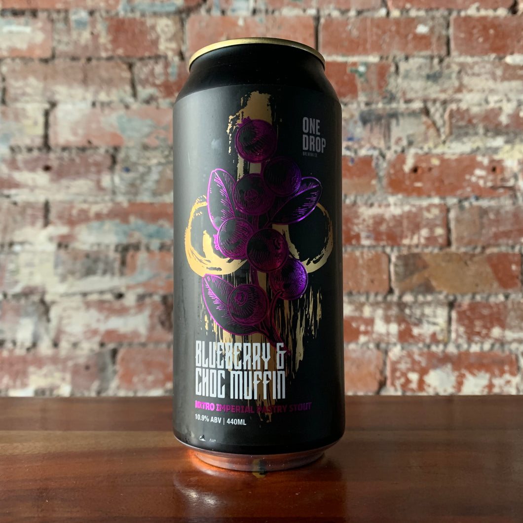 One Drop Blueberry & Choc Muffin Nitro Imperial Pastry Stout - 2 can limit per customer