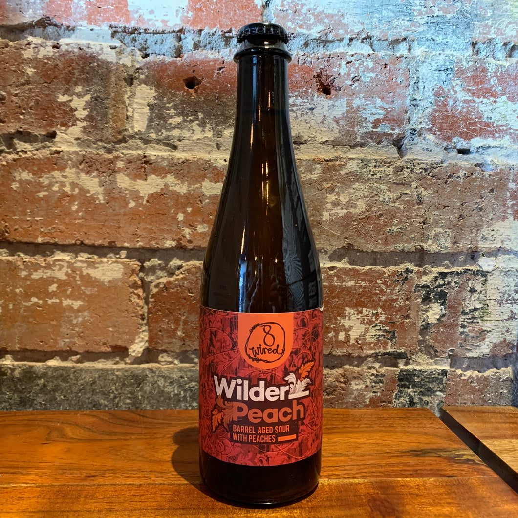 8 Wired Wilder Peach Barrel Aged sour with peaches.