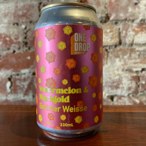 One Drop Watermelon & Marigold Berliner Weisse