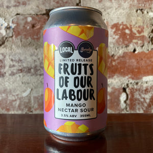Local Beer Fruits Of Our Labour Mango Nectar Sour