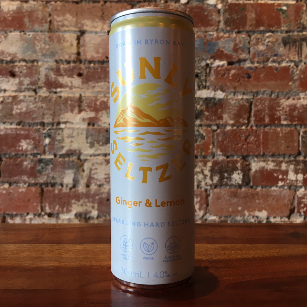 Sunly Seltzer Ginger & Lemon