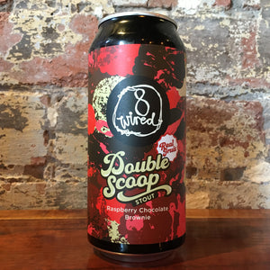8 Wired Double Scoop Raspberry Chocolate Brownie Pastry Stout