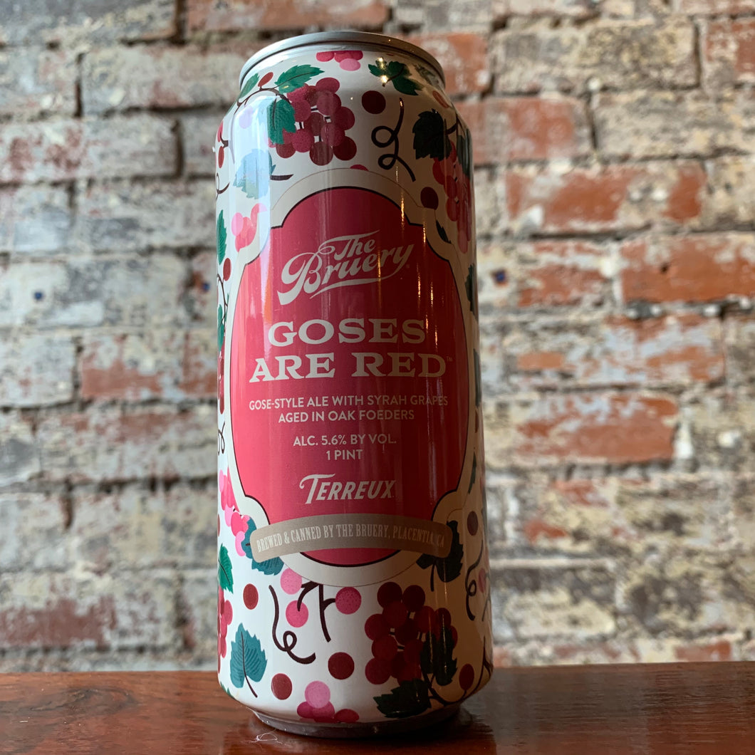 Bruery Goses Are Red Rosé Wine Gose Sour