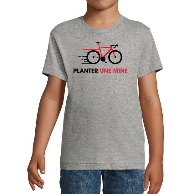 "T-shirt ""Planter une mine"" Junior - Team-Cofidis"