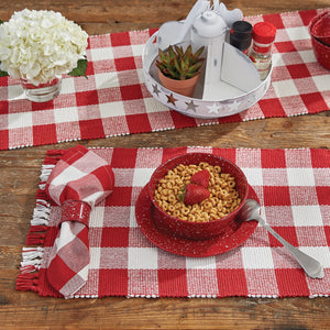 Red Buffalo Check placemat