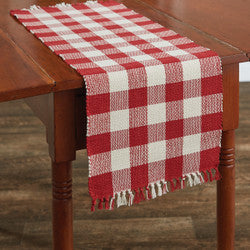 Red Buffalo Check table runner