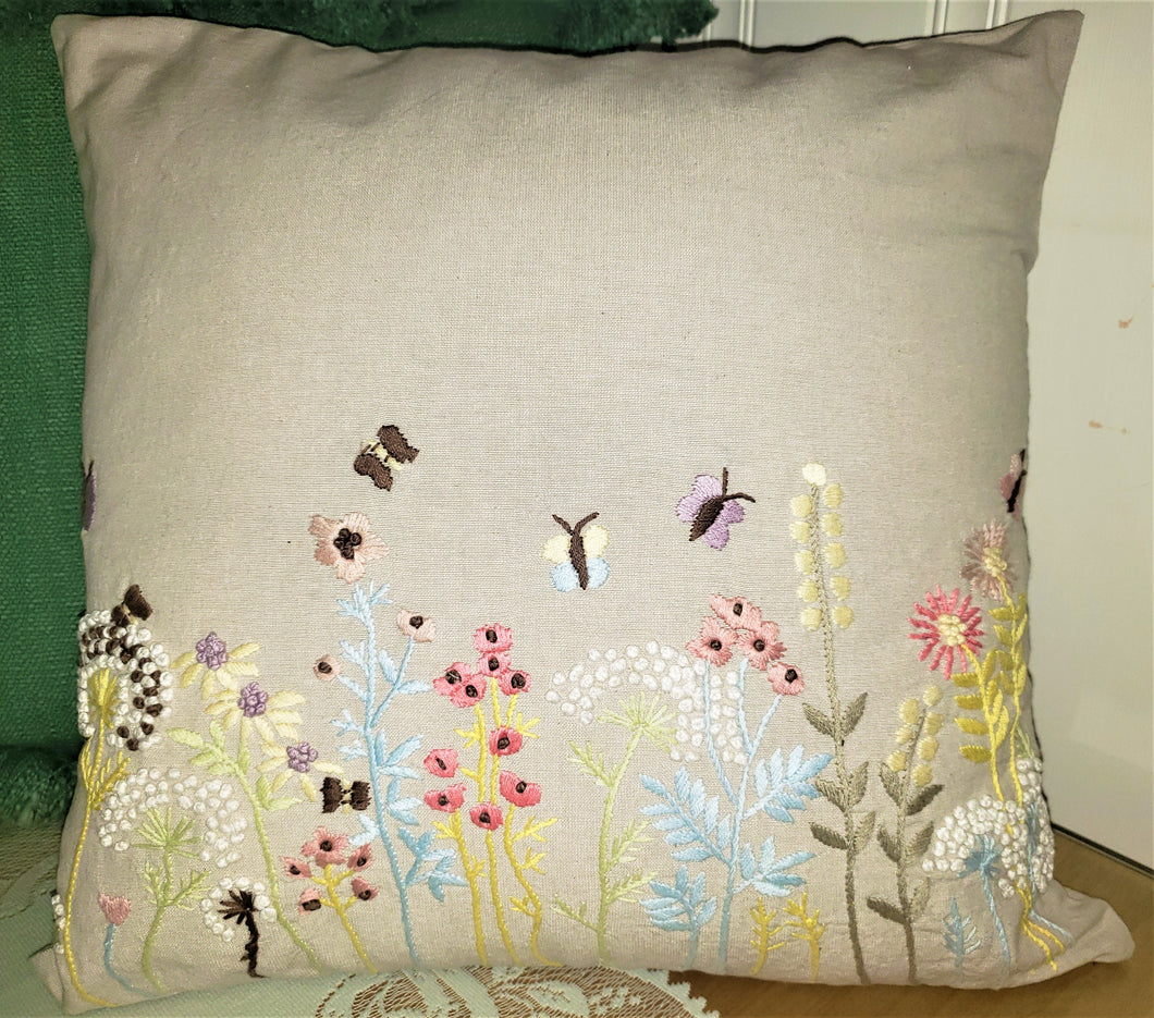 Summer flowers pillow
