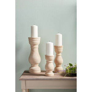 Paulownia wood candle holder set/3
