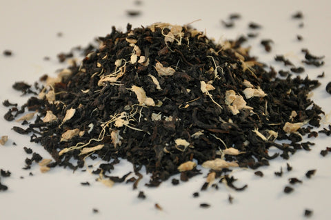Ginger Organic Tea - Black Assam With Shredded Ginger Root Just Poured from the Embassy House Pouch