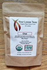 Chai Organic Tea Freshly Sealed, Reusuable Pouch