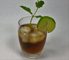 Ginger Organic Tea - Cold With Slice of Lime and Sprig of Mint