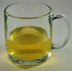 Organic Loose Leaf Green Tea In Glass Cup