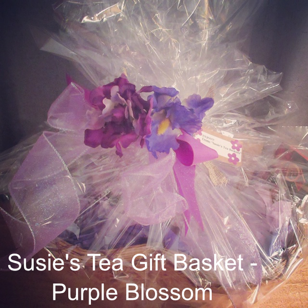Tea Gift Basket by Susie - Purple Blossom