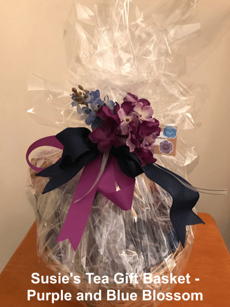 Tea Gift Basket by Susie - Purple and Blue Blossom