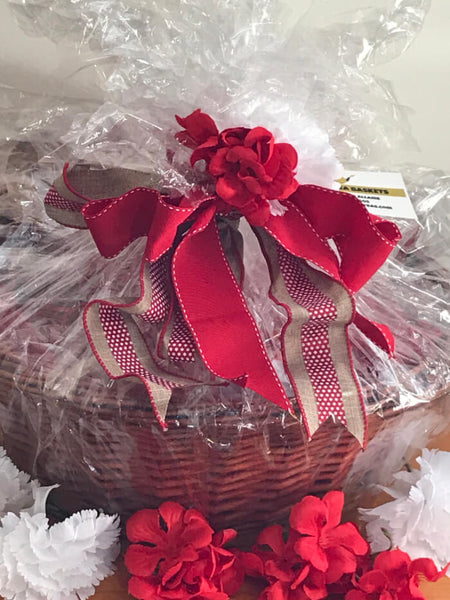 Susie's Tea Gift Basket - Red Blossom