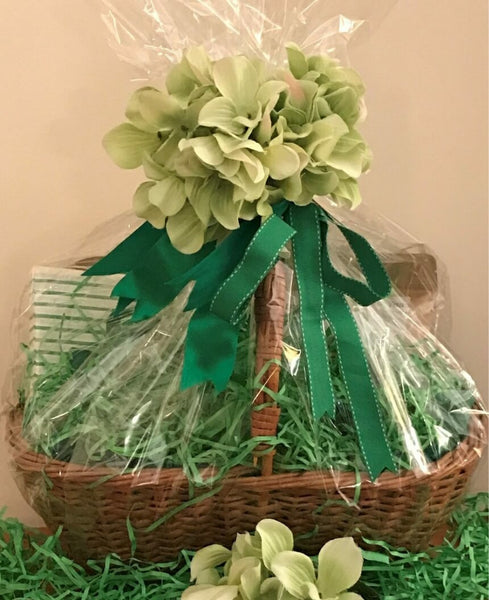 Tea Gift Basket by Susie - Green Blossom
