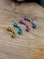 Anodised Titanium 1.6mm Curved Barbell
