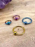 Anodised Titanium 1.2mm/ 1.6mm BCR (Ball Closure Rings)