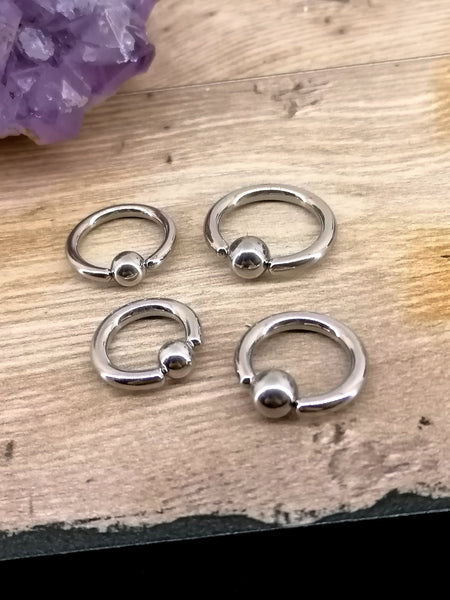 Surgical Steel 2.0mm / 2.4mm BCR (Ball Closure Rings)