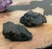 Small Raw Cut Black Tourmaline