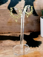 Sterling Silver/ Gold plated Tribal Hoops