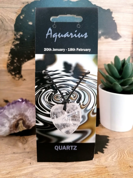 Zodiac Aquarius Gemstone Necklace/Bracelet