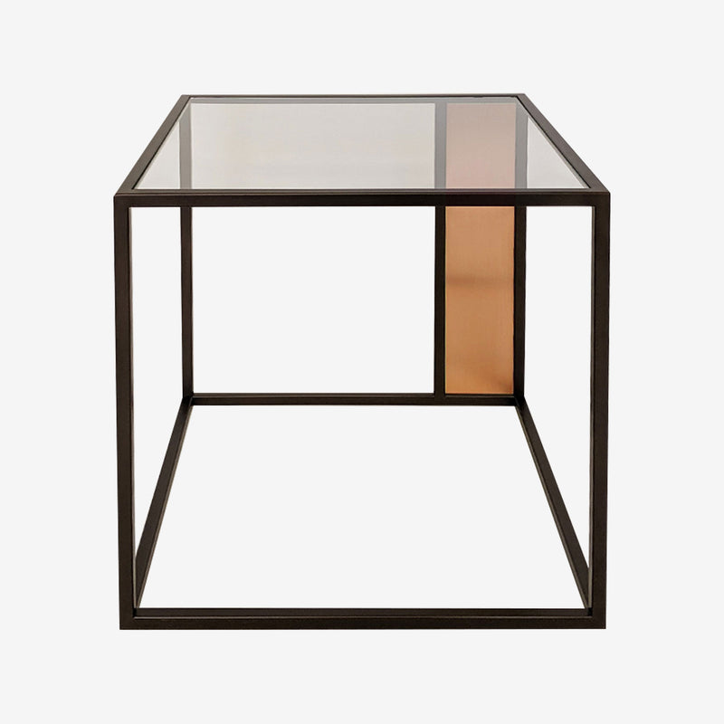 Sky Glass Side Table, Copper, Loom, Luxury Furniture, Contemporary Interiors