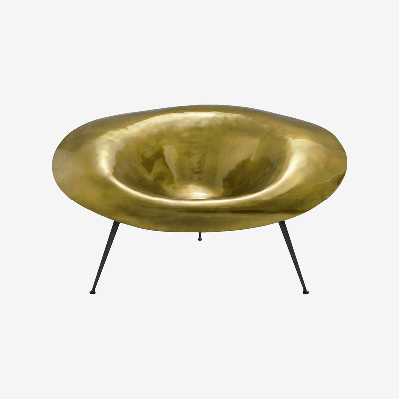 Varnished Gold Fiberglass, Stool, Inperfetto Lab, Colourful Design, Bold Design, Contemporary Living