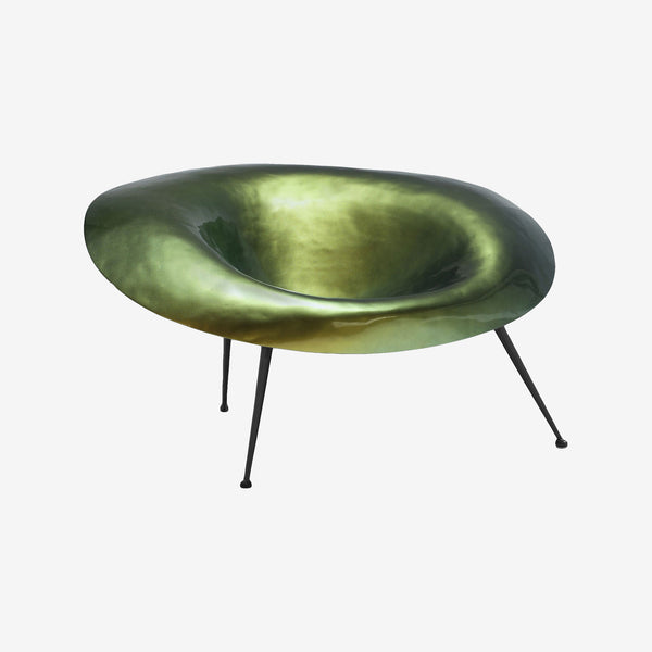 Varnished Green Fiberglass, Stool, Inperfetto Lab, Colourful Design, Bold Design, Contemporary Living