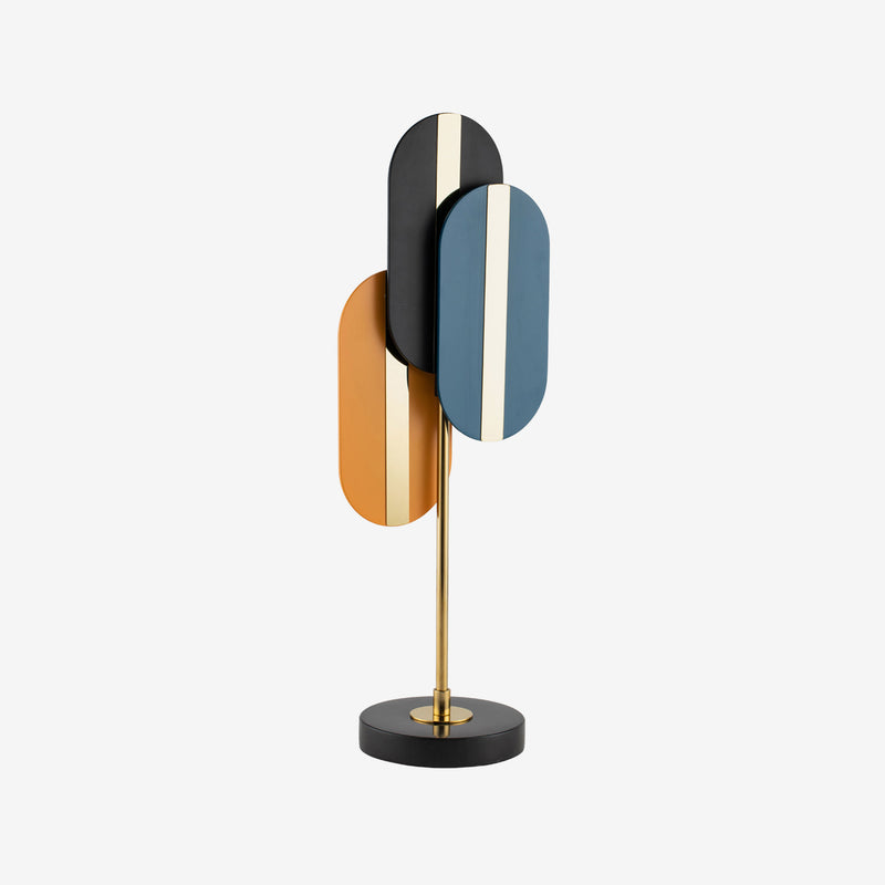 Liang & Eimil, Luxury Home Accessories, Contemporary Design, Sculpture, Black, Orange, Blue, Brass, Art
