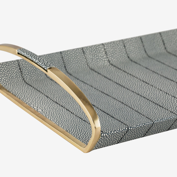 Liang & Eimil, Luxury Home Accessories, Contemporary Design, Brass & Shagreen Tray, Kitchen, Bar