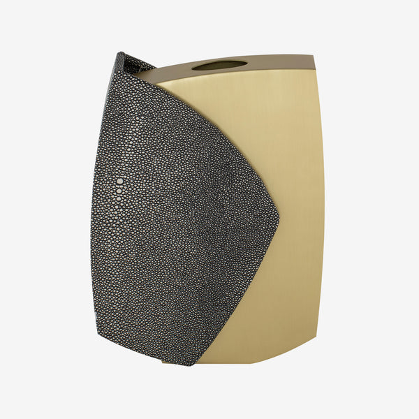 Liang & Eimil, Luxury Home Accessories, Contemporary Design, Brass & Shagreen Vase