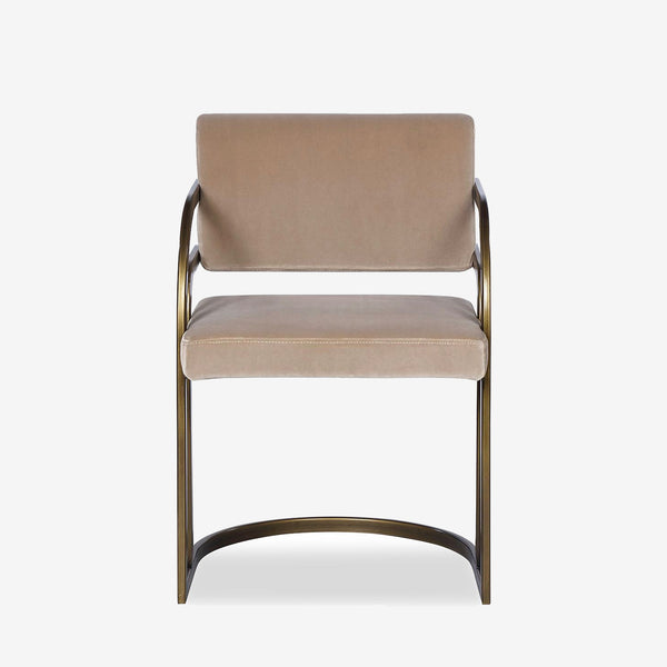 Liang & Eimil, Luxury Furniture, Dining Chair, Grey Velvet, Contemporary
