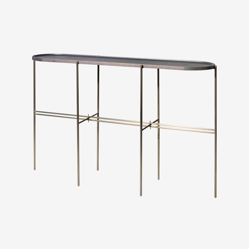 Loom Console Table, Grey Timber