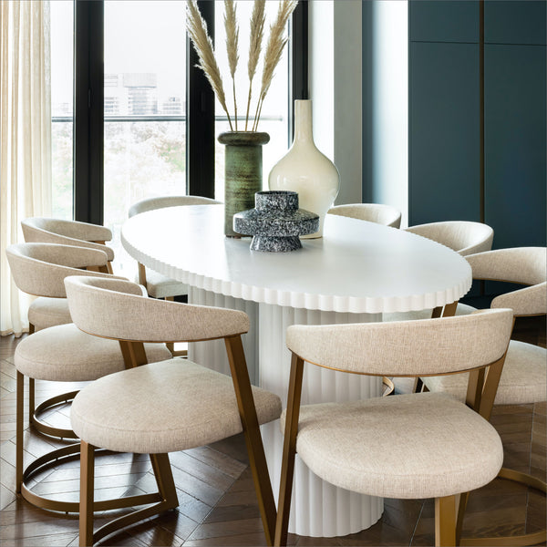 Bazaar, Contemporary Design, Luxury Furniture, Dining Table, White
