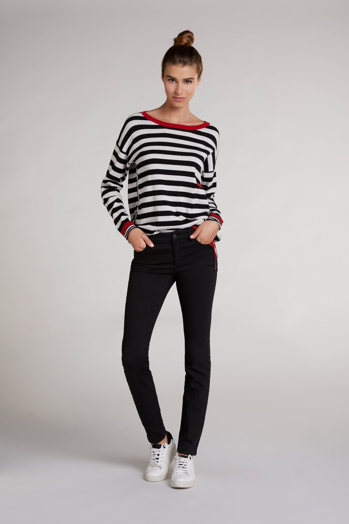 Oui Black Baxtor Slim Fit Jeggings