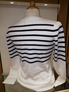 Emme White / Navy Striped Nautical Sweater