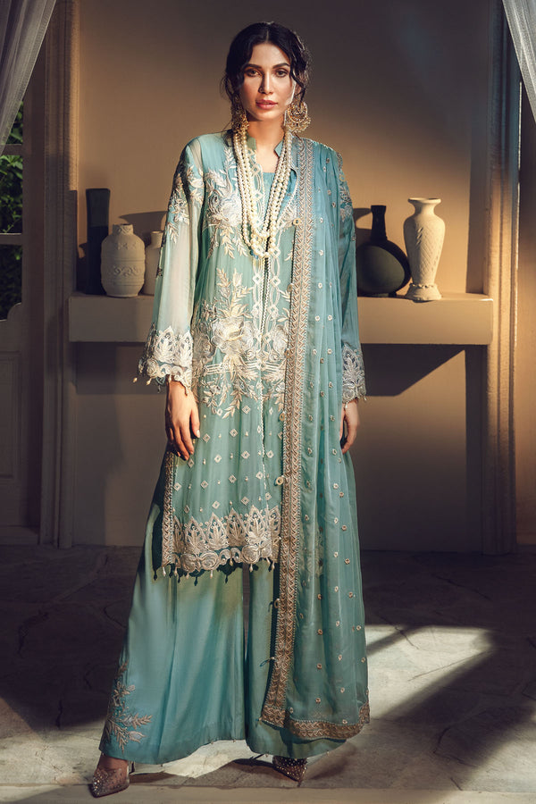 2639-SPRING-RAIN EMBROIDERED BEMBERG CHIFFON UNSTITCHED