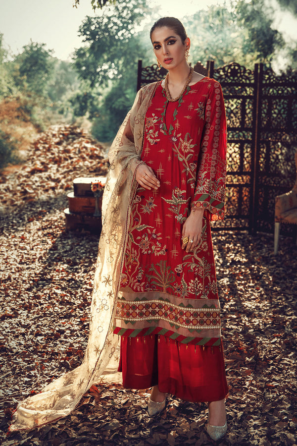 2702-MAHTAB EMBROIDERED LINEN UNSTITCHED