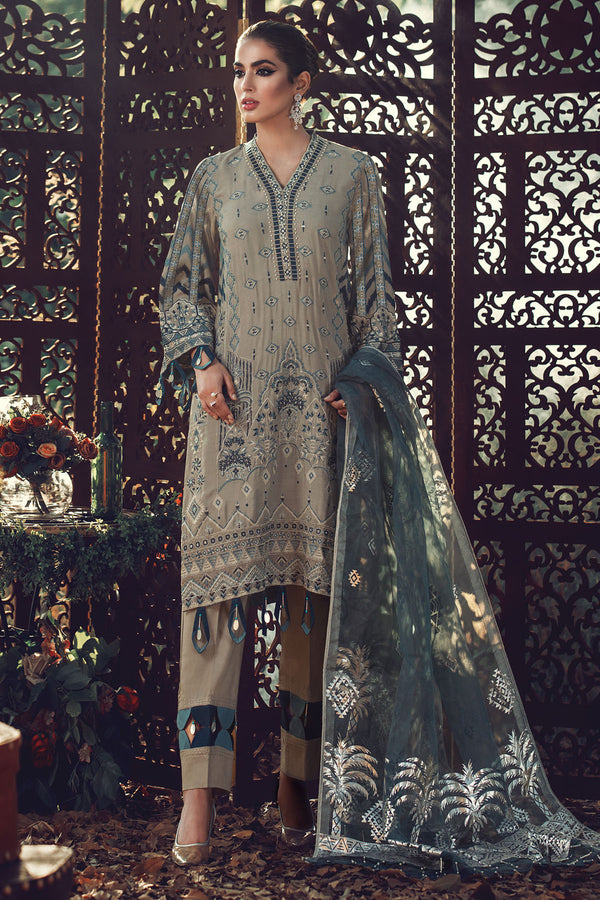 2701-TENUE-DU-JOUR EMBROIDERED LINEN UNSTITCHED