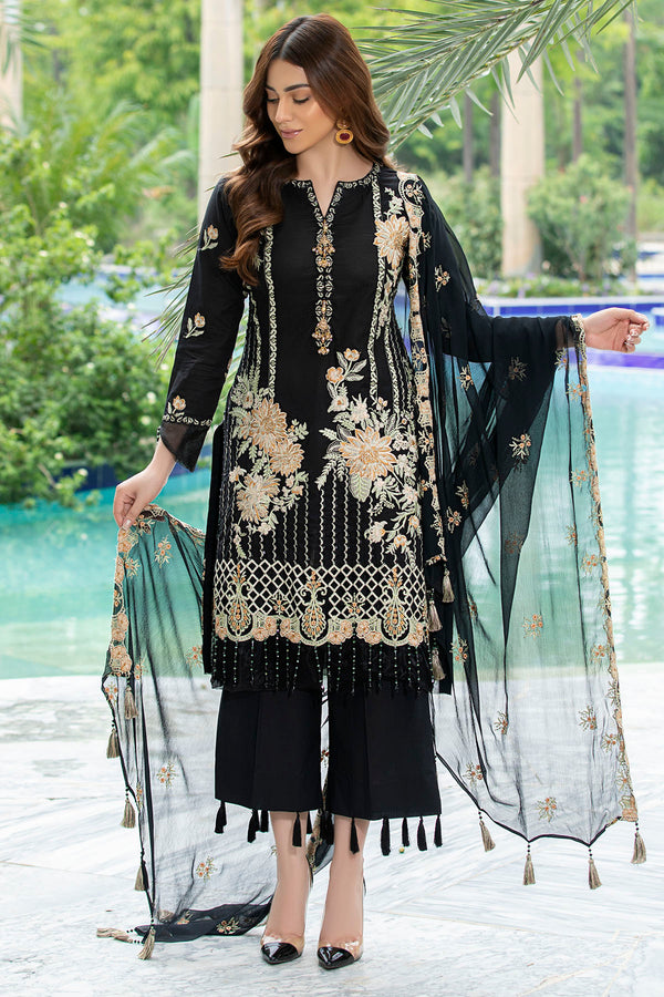2587-ONYX EMBROIDERED LAWN UNSTITCHED