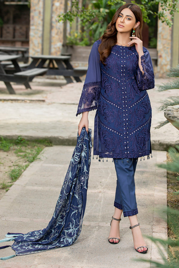 2594-MIDNIGHT EMBROIDERED LAWN UNSTITCHED
