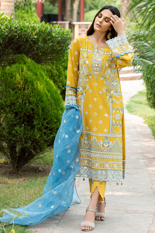 2585-BRIGHT-SUN EMBROIDERED LAWN UNSTITCHED
